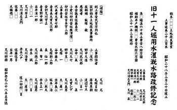旧十一人堀用水灌漑水路改修記念碑(碑文写し).jpg