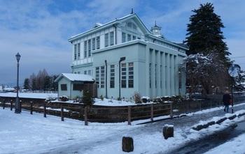 雪化粧した元栃木町役場庁舎.jpg
